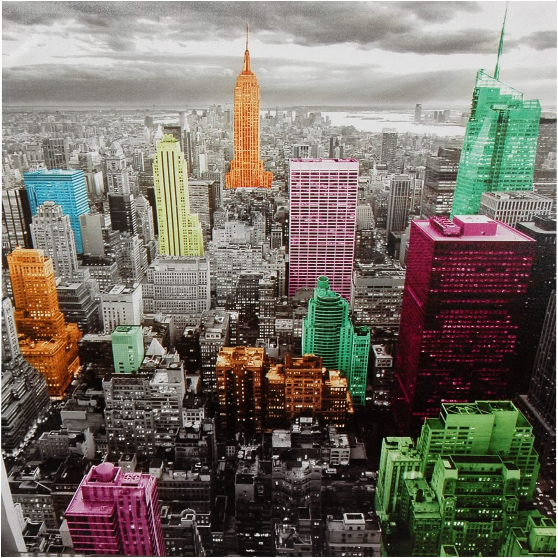 Oriental Furniture High-Lights of New York Skyline Canvas Wall Art