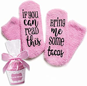 Taco Food Socks For Women, If You Can Read This Socks, Taco Gifts