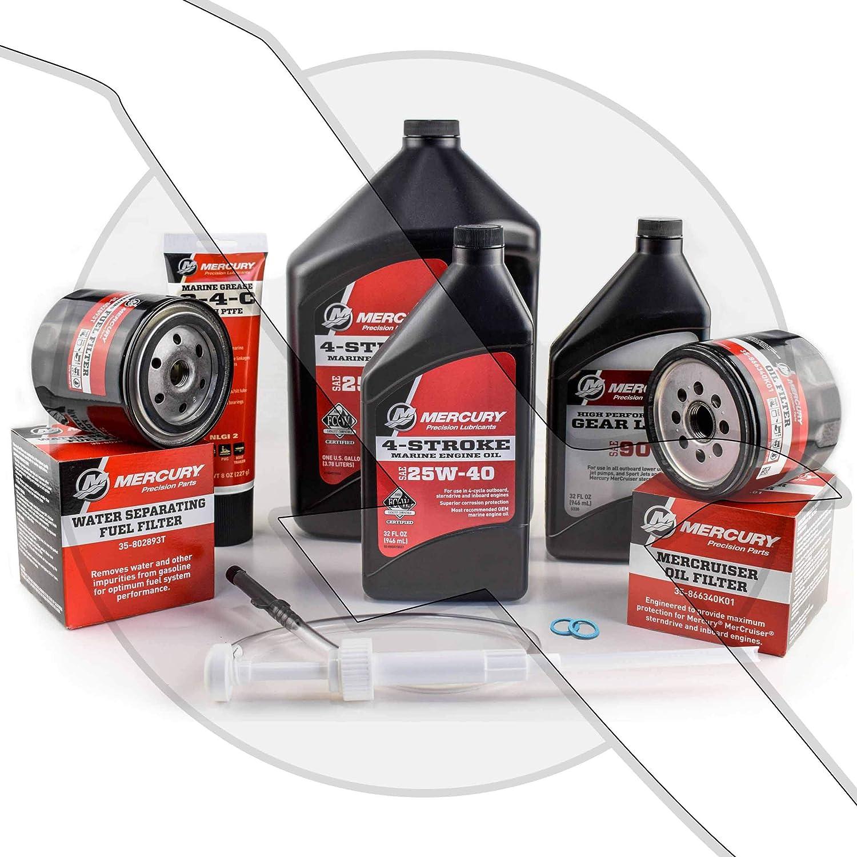 Mercruiser Engine Oil Change and Sterndrive Gear Lube Maintenance Kit…