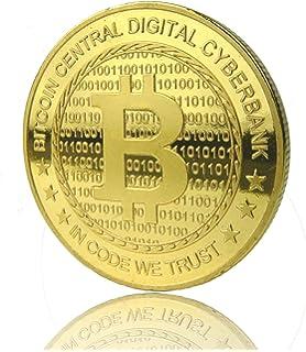 Ze2 Gear Bitcoin Münze Gold 24 Karat Gold Beschichtung Neues