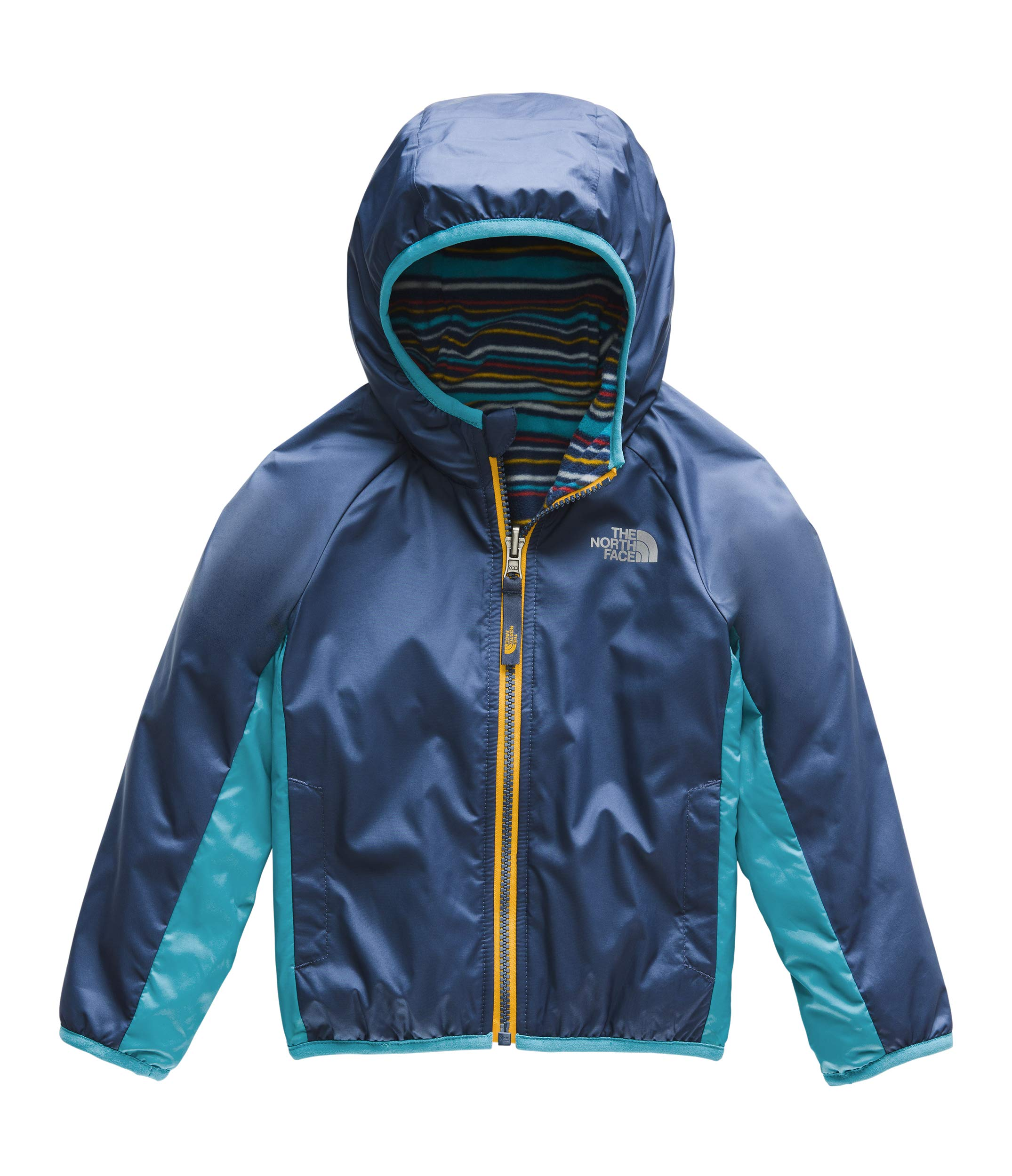 The North Face Kids Baby Boy's Reversible Breezeway Jacket (Toddler) Shady Blue 5T
