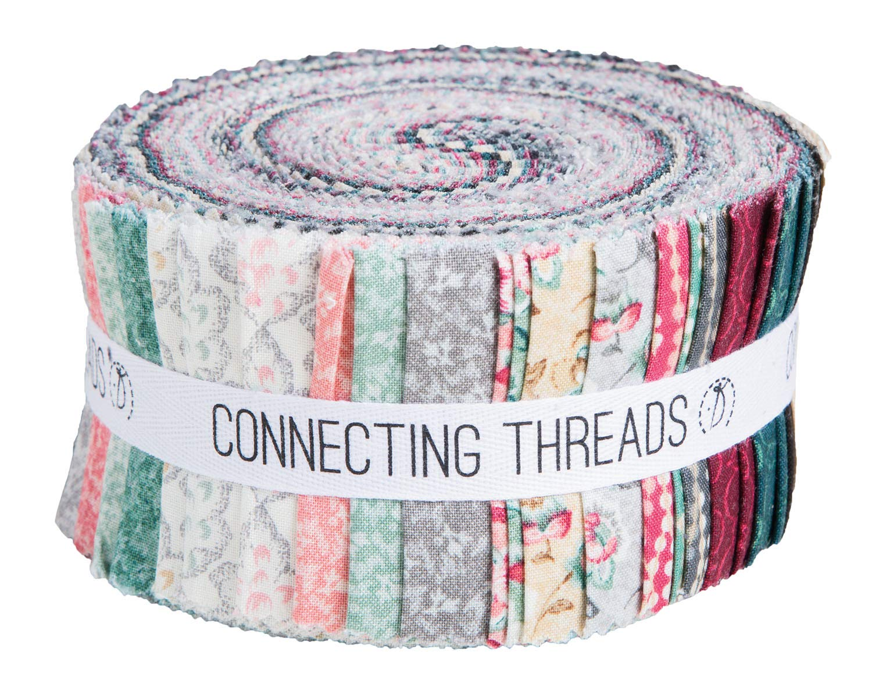 Connecting Threads Print Collection Precut Quilting Fabric Bundle (Jardin de Nicollete - 2.5'' Strips)