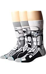 Stance Men's Trooper Crew Socks, White, Sock Size:10-13/Shoe Size: 6-12