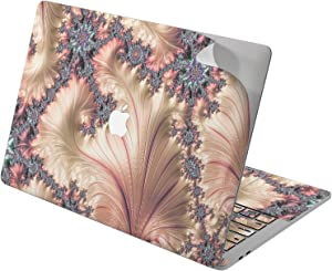 """Cavka Vinyl Decal Skin for Apple MacBook Pro 13"""" 2019 15"""" 2018 Air 13"""" 2020 Retina 2015 Mac 11"""" Mac 12"""" Gold Fractal Sticker Roses Laptop Abstract New Cover Print Luxury Protective Design Pearl Paint"""