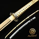 "Auway 40"" Fully Handmade High Carbon Steel Full Tang Blade Japanese Katana Samurai Sword"