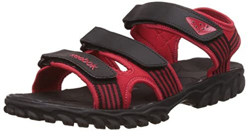 1f1558a9c Reebok Men s Supreme Connect Black and Red Athletic   Outdoor Sandals - 10  UK India