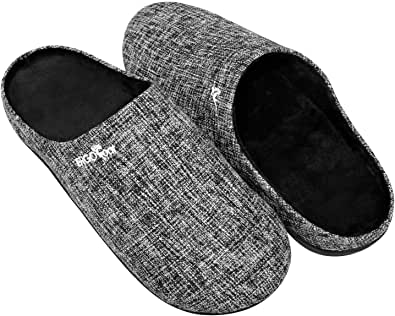 Orthotic Slippers with Arch Support for Plantar Fasciitis Pain Relief, Comfortable Orthopedic Clog House Shoes with Indoor Outdoor Anti-Skid Rubber Sole by ERGOfoot (7 US Women/ 6 US Men)