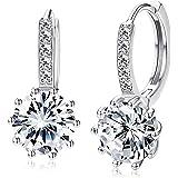 UBGICIG Drop Dangle Earring for women, 14K Gold Plated Leverback Earrings with Cubic Zirconia Huggie Hoop Earings Fashion Jew