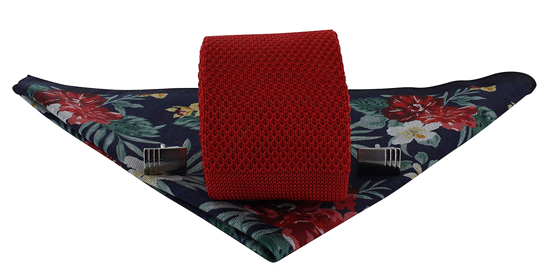 Michelsons of London Corbata de punto de seda de color rojo, azul ...