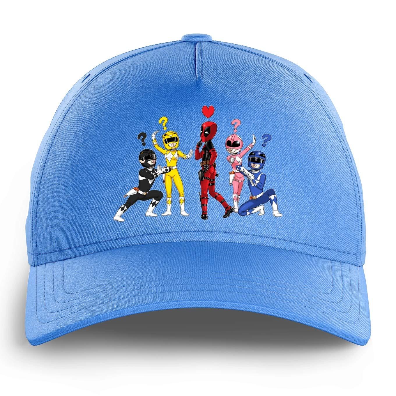 Gorra Niño e Niña Celeste Deadpool - Power Rangers humorística con ...
