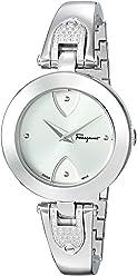 Salvatore Ferragamo Women's 'GILIO' Swiss Quartz Stainless Steel Casual Watch, Color:Silver-Toned (Model: FIW080017)