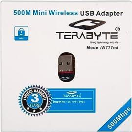 Terabyte 500Mbps Mini Wireless USB Adapter  Black