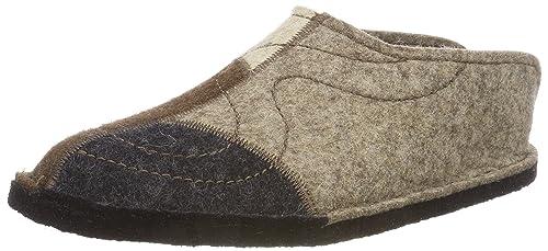 7ebf51ed5b67 Haflinger Men slippers Flair Puzzle grey