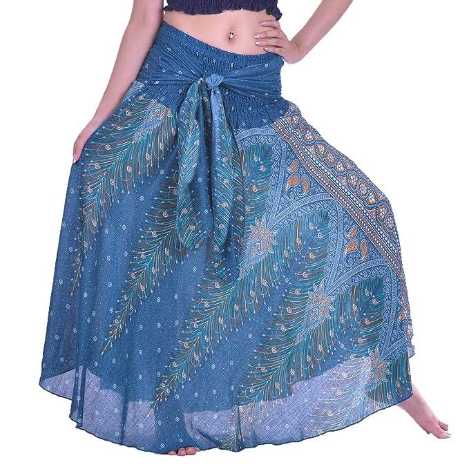 Amazon.com: LOFBAZ - Faldas largas para mujer, estilo gitano ...