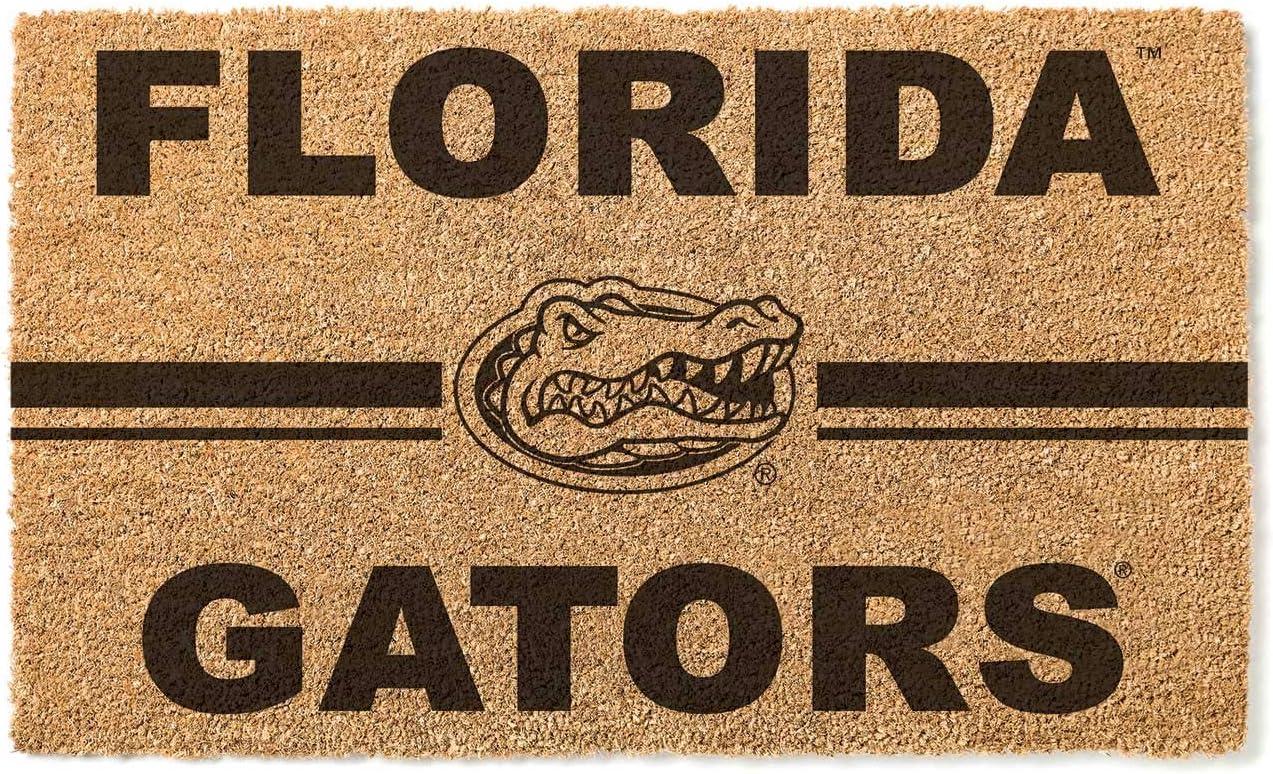 KH Sports Fan Florida Gators Logo Team Coir Doormat, Multicolor