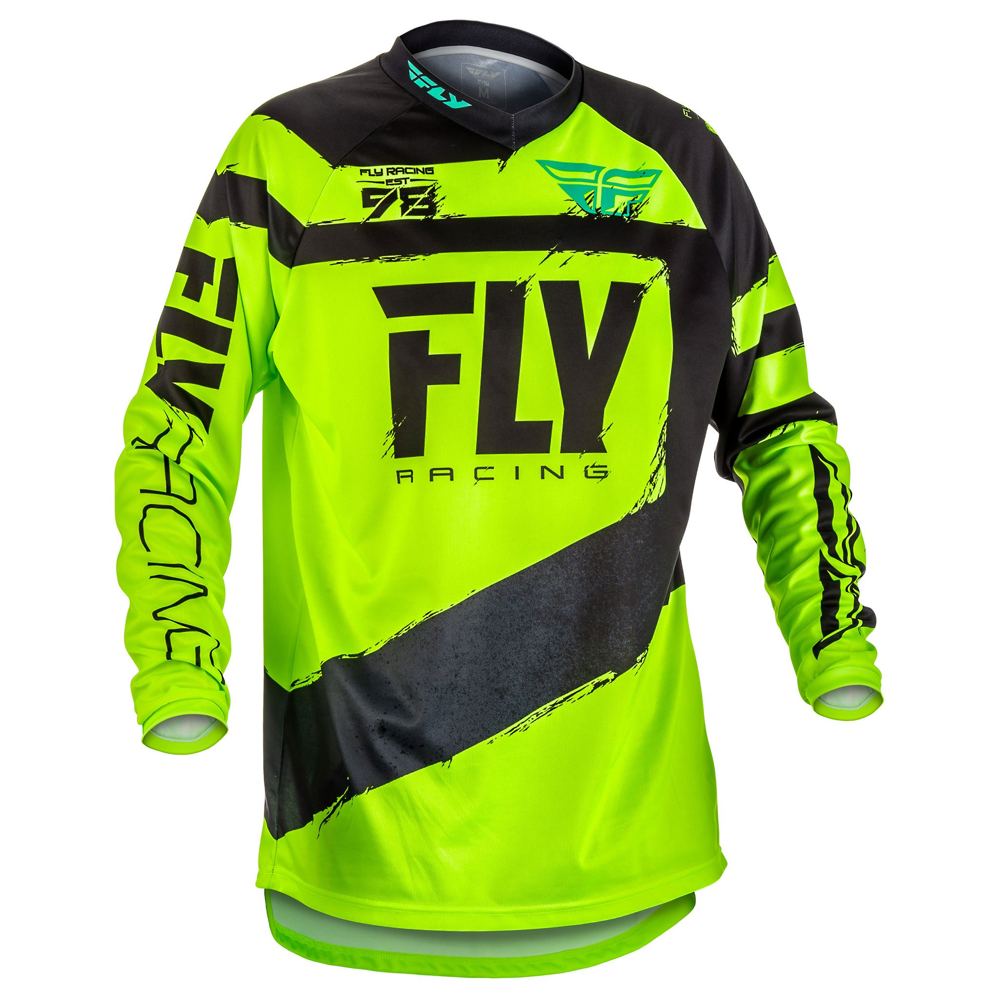 Fly Racing Men's Jersey (Black/Hi-Vis, Youth X-Large)