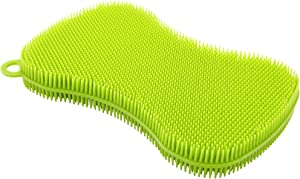 Kuhn Rikon Stay Clean Silicone Scrubber, Green