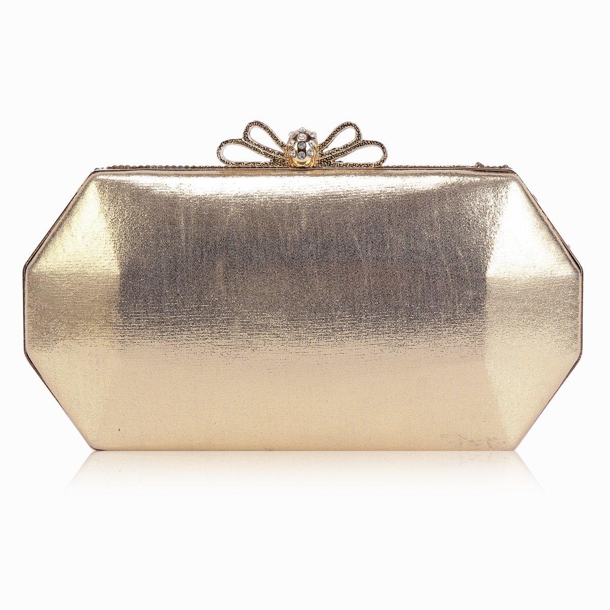 Damara Womens Rhinestone Ellipses Surface Hardcase Evening Bag, Gold: Handbags: Amazon.com