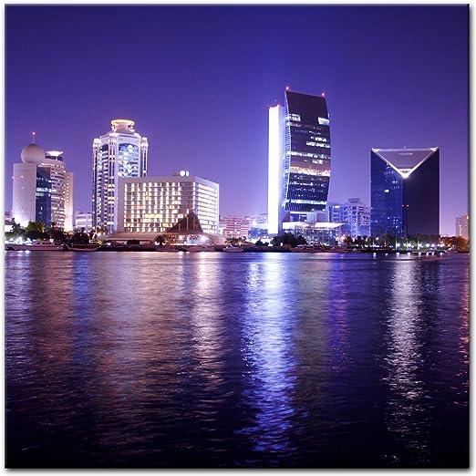 Bilderdepot24 Cuadros en Lienzo Dubai - Escena de la Noche ...