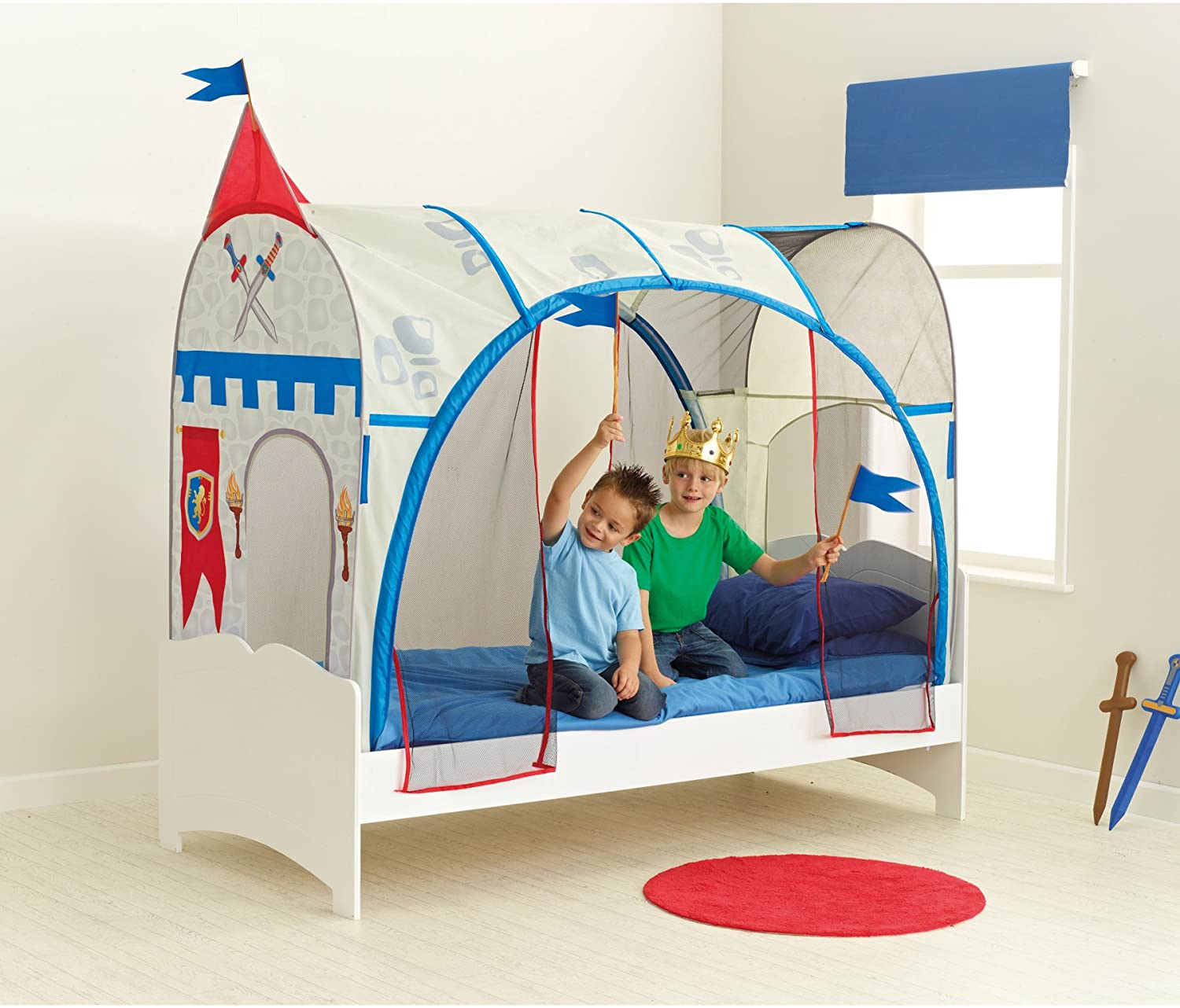 Worlds Apart Knights Single Bed Feature Tent Amazon.co.uk Kitchen u0026 Home & Worlds Apart Knights Single Bed Feature Tent: Amazon.co.uk ...