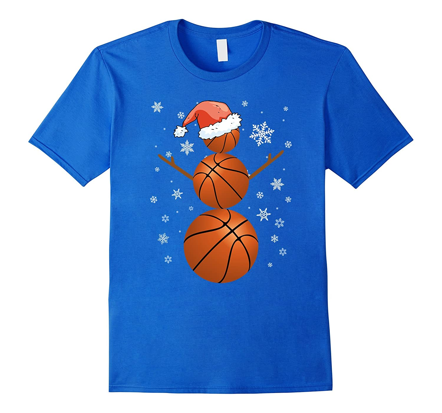 a6809044b Basketball Snowman – Holiday Funny Christmas T-Shirt Unisex-BN ...