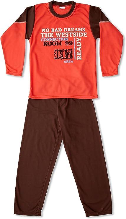 KUMY Pijama Niño Ready Naranja 4 años (104 cm): Amazon.es: Ropa