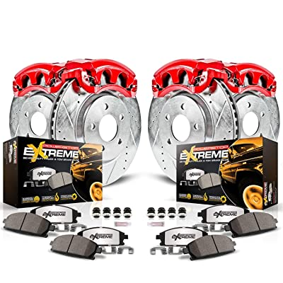 Power Stop KC1782-36 Front & Rear Z36 Truck and Tow Brake Kit with Calipers: Automotive