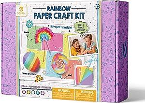 GoldieBlox Rainbow Paper Craft Kit, for Kids 8+, Educational DIY STEM Activity