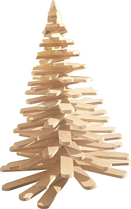 Sapin Noel Bois Latte En Hêtre Design 3 Positions H: 45 Cm: Amazon