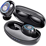 Wireless Earbuds, Cystereo Fusion Bluetooth 5.0 Earbuds, in-Ear Headphones with Mic, AptX, Deep Bass, IPX 7 Waterproof, Touch