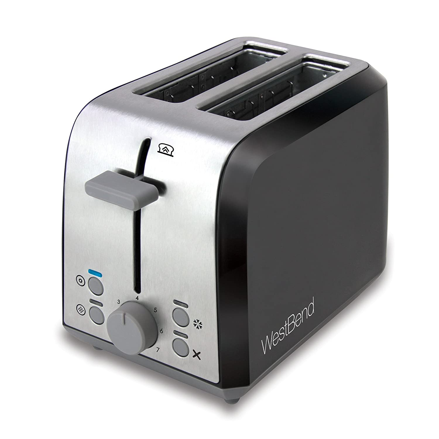 Amazon West Bend Two Slice Toaster Black Metallic