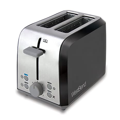 Amazon.com: West Bend 78823 Extra Wide Slot Toaster with Bagel ...