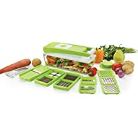 Ganesh Vegetable Dicer, 12 Cutting Blades (14 functions in one), Green