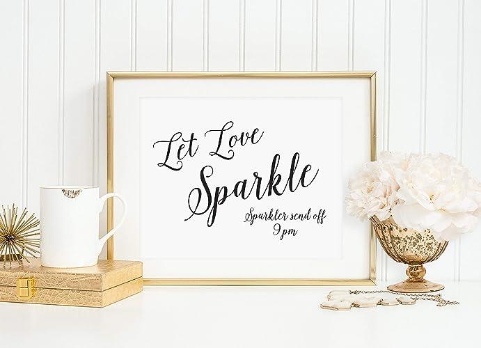 Amazon Com Let Love Sparkle Sign Wedding Sparkler Send Off Sign