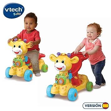 VTech Jirafa Scooter 4 en 1, andador evolutivo con actividades que se transforma en correpasillos y patinete, multicolor (80-503522)
