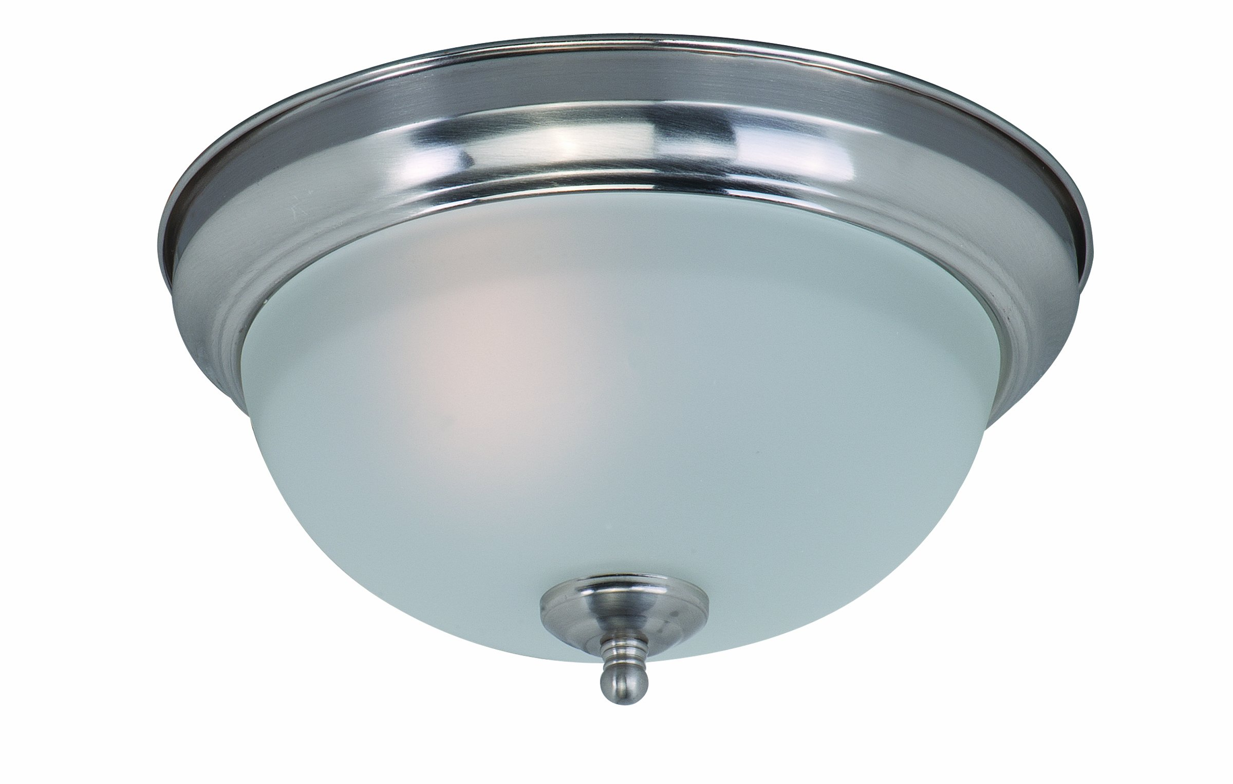Maxim 85840FTSN Flush Mount EE 1-Light Flush Mount, Satin Nickel Finish, Frosted Glass, GU24 Fluorescent Fluorescent Bulb , 60W Max., Dry Safety Rating, Standard Dimmable, Glass Shade Material, 1344 Rated Lumens