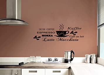 kreative4you Wandtattoo Wandsticker Küche Kaffee Espresso Mokka ...