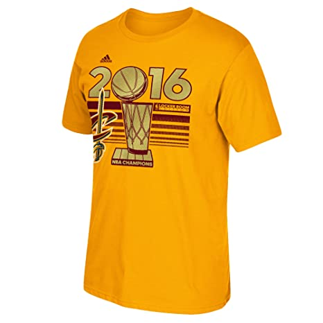 adidas Cleveland Cavaliers 2016 NBA Finals Champs Official Locker Room Gold  T-shirt Small 14d884806