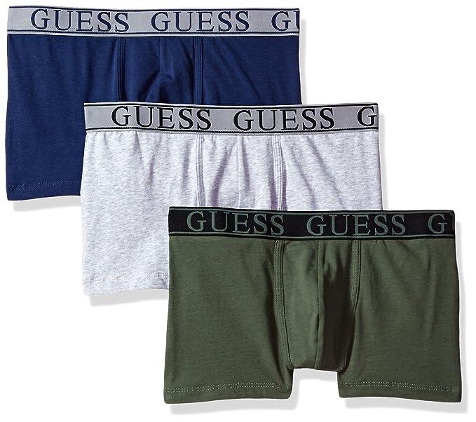 20c9dc44da41 GUESS Men's Instinct 3 Pack Boxer Trunks, Green Combo, XL at Amazon ...