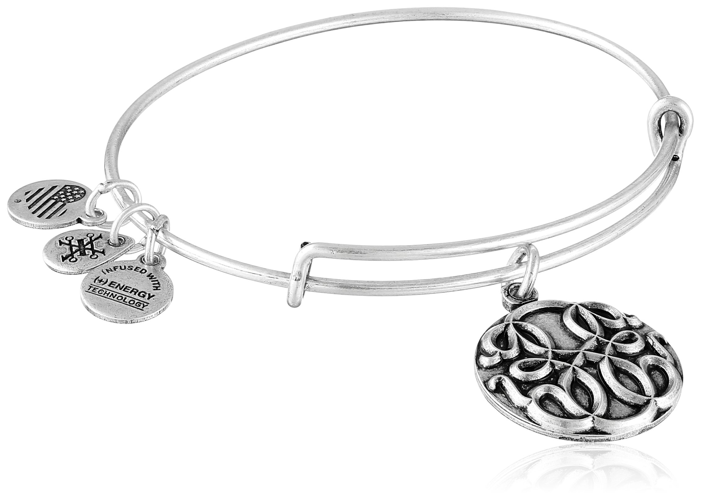 Alex and Ani Path of Life III Expandable Rafaelian Silver Bangle Bracelet