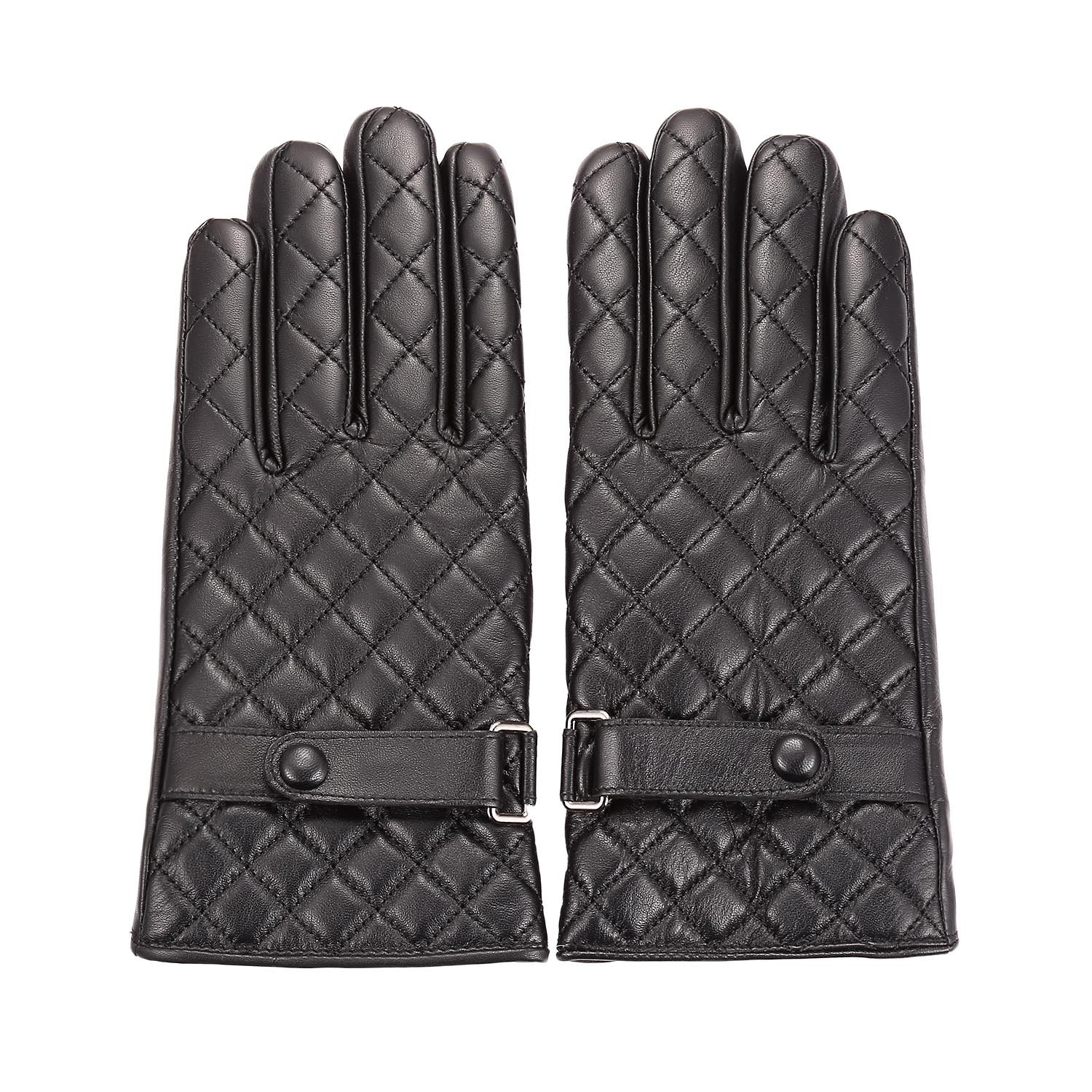 Womens Winter Leather Warm Touchscreen Texting Driving Fleece Lined Gloves