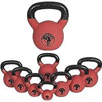 Gorilla Sports Kettlebell Red Rubber - Pesa rusas, Forro de neopreno