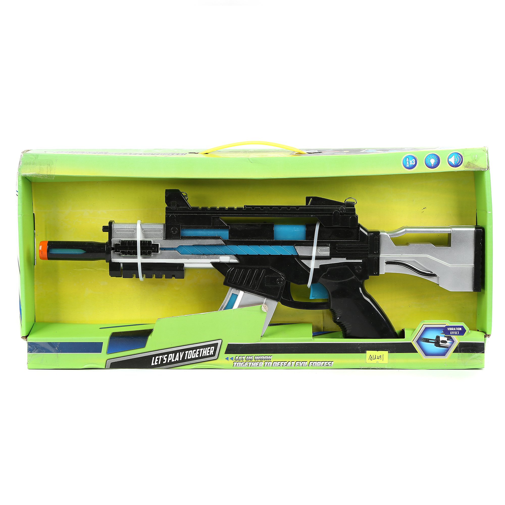 Fun Central AU491 17 Inch LED Light Up SW Blaster with Sounds Effect, LED Blaster Toy Gun, Light Up Blaster Gun for kids, Blaster Gun - for Party Favors, Gifts, Prizes, Rewards, Giveaways by Fun Central (Image #3)