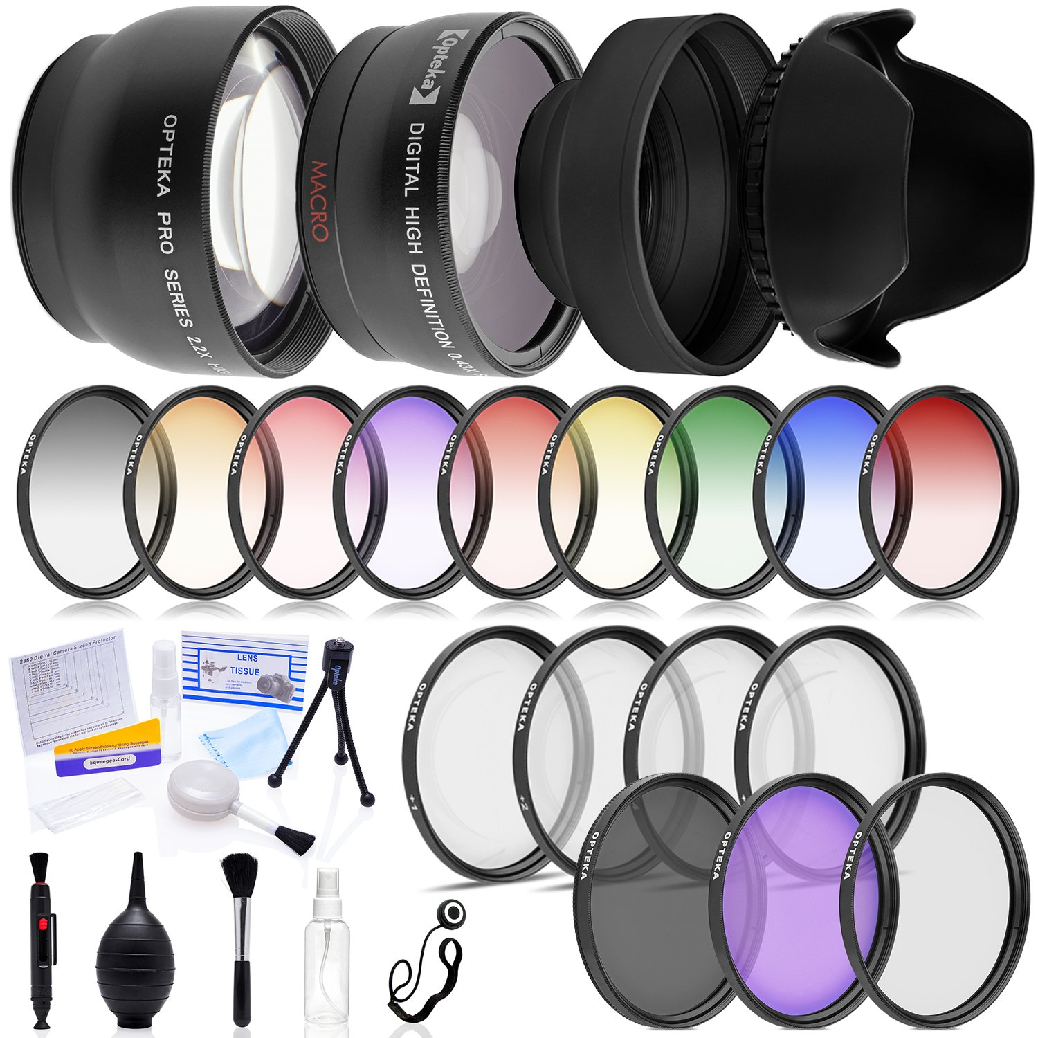 Multi-Piece Advanced Lens Package For The Nikon D100 D200 D300 D300S D700 D7000 D7100 D3000 D3100 D3200 D5000 D5100 D5200 D5300 D40 D40X D50 D60 D70 D90 D80 Includes Deluxe Lens and Filter Kit by Opteka