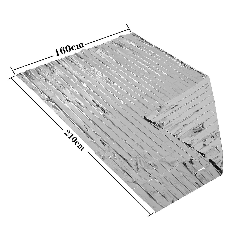 dise/ñado con hasta un 90/% de retenci/ón de Calor Somine Mantas de Emergencia Tama/ño Grande:210 X160cm Paquete de 10