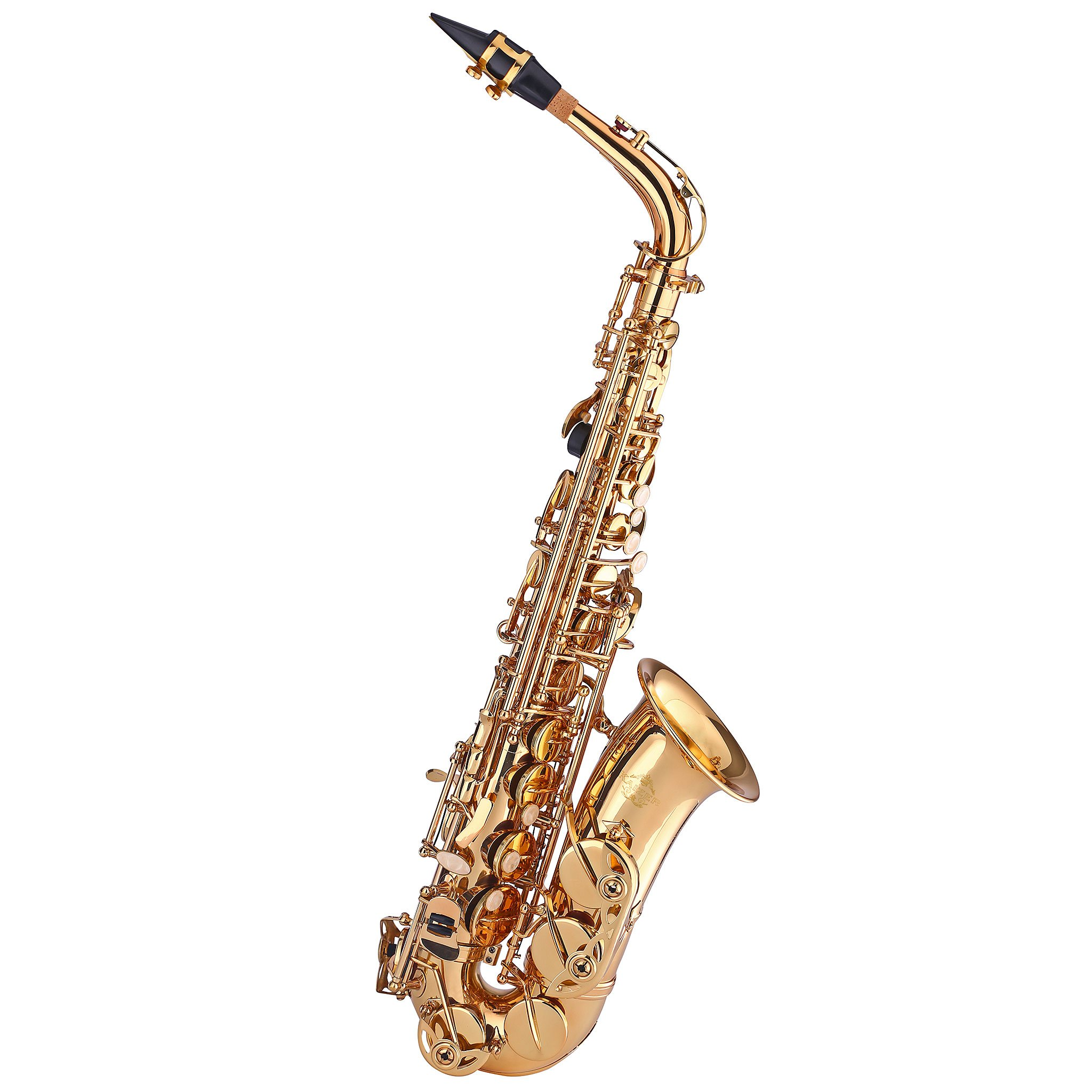 Kaizer Alto Saxophone E Flat Eb Gold Lacquer Includes Case Mouthpiece and Accessories ASAX-1000LQ by Kaizer