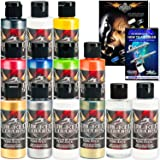 11 CREATEX Wicked Colors 2oz Pearl Airbrush Paint Set