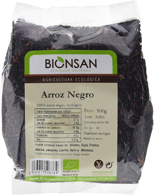 Bionsan Arroz Negro de Cultivo Ecológico - 500 g: Amazon.es ...
