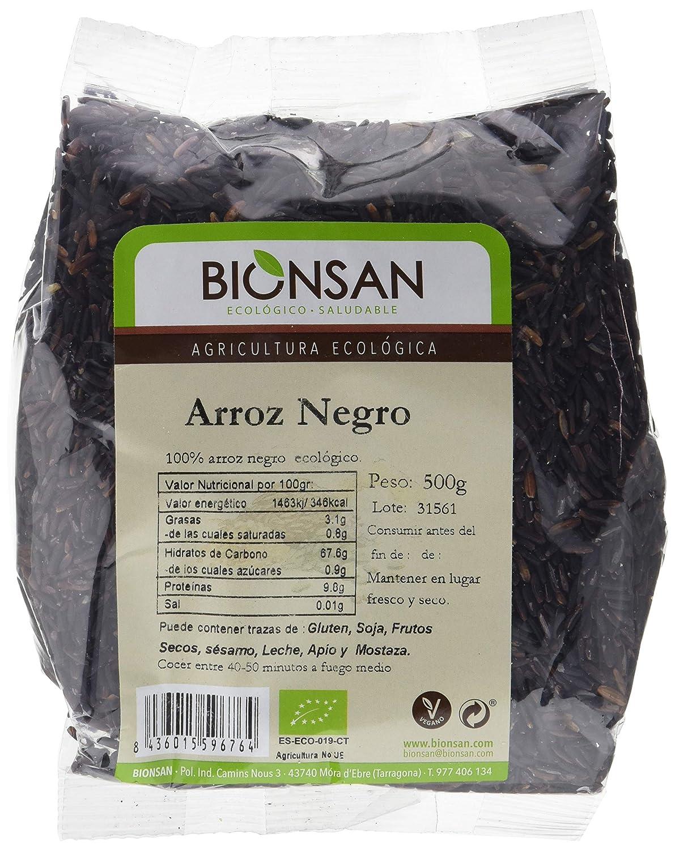 Bionsan Arroz Negro de Cultivo Ecológico | 6 Paquetes de 500 g ...