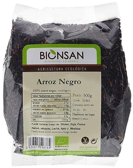 Bionsan Arroz Negro de Cultivo Ecológico | 6 Paquetes de 500 g (3 kg)